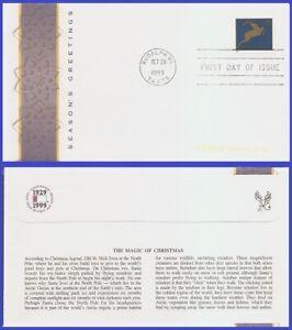 USA5 #3365 U/A FLEETWOOD FDC   Christmas Deer blue