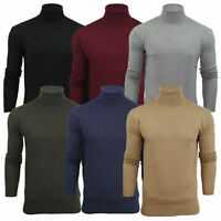AARHONS Mens Roll Polo Neck Jumper Brave Soul  Pull Over Sweater Top S-XLHUME