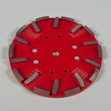 Red Concrete Grinding Plate 250mm.For Grinding Medium to Hard Concrete. (20 S...