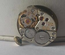 Vintage Lady Rolex Precision Wrist Watch Movement with Dial Ticks ASIS #09-4