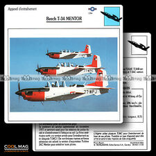 #011.02 BEECH T 34 MENTOR - Fiche Avion Airplane Card