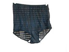 Carole Vintage 100% Acetate Panties  Black Size 9 Made In Usa