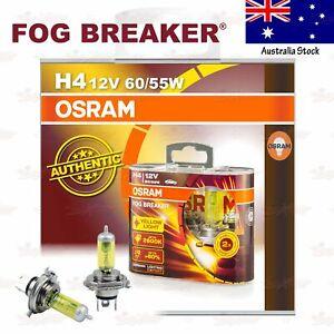 OSRAM FOG BREAKER Headlight Bulbs Lamps 2600K YELLOW H4 12V 60/55W for LOW BEAM