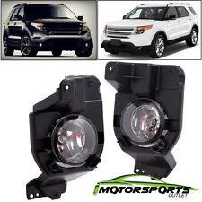 [Glass lens] 2011 2012 2013 2014 2015 Ford Explorer Fog Lights Lamps+Bulbs