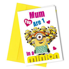 #96 one in a Minion BIRTHDAY or MOTHERS DAY Card Funny Humour Rude Joke