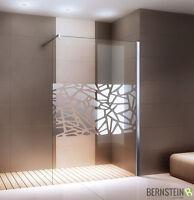 Duschabtrennung Walk-In Dusche EX101 » Spiegelmuster mittig » Breite wählbar