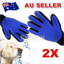 2X Touch Cleaning Brush Magic Glove Pet Dog Cat Massage Hair Removal Grooming