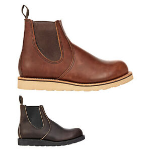 Red Wing Mens Boots Classic Chelsea Casual Slip-On Goodyear-Welt Leather