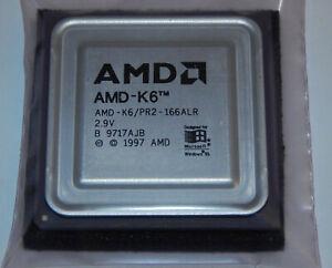 AMD K6 166 MHz AMD-K6/PR2-166ALR 2,5 x 66 MHz Prozessor CPU Core 2,9V Sockel 7