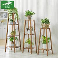 2/3/4 Tier Flower Stand Plant Shelf Garden Pot Bonsai Wooden Rack Indoor Outdoor