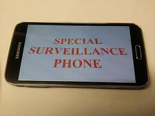 UNLOCKED BLACK USED SAMSUNG GALAXY S5 G900F SURVEILLANCE GPS SPY PHONE 007
