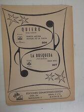 salon orchestra parts QUIERO / LA BUSQUEDA