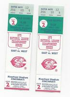 1975 NLCS baseball ticket lot of 2 Cincinnati Reds v Pittsburgh Pirates Game 2