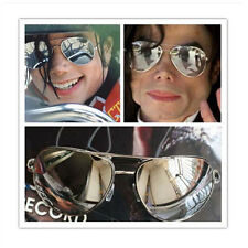 MJ Michael Jackson Classic Frog Silver Drive Mirror Sunglasses