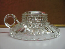 *CHARMING* Cut Glass CANDLE Holder with HANDLE Vintage