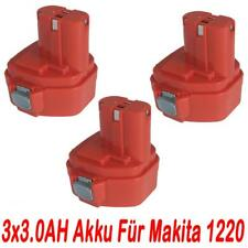 3x 12V 3.0AH Akku für Makita 1220 1222 1233 1234 1235 1925974 1925982