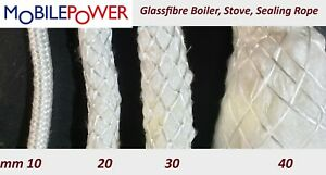Glassfibre Bio Mass Boiler Stove Sealing Lagging Rope by the metre
