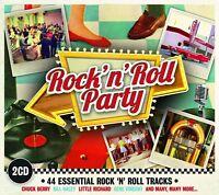 ROCK'N'ROLL PARTY (Chuck Berry, The Contours, Little Richard) 2 CD NEU