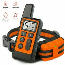 Dog Training Collar Remote Waterproof Electric Shock Collar Pet USB Rechargeable