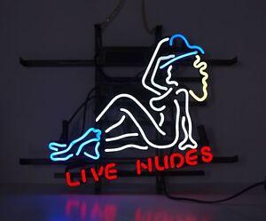 """17""""x14""""Live Nudes Woman Neon Sign Bier Bar Kneipe Wandbehang Neonleuchte Dekor"""