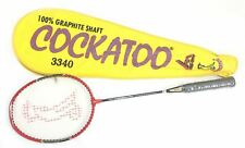 Cockatoo 3340 Badminton Racket (Yellow) Racquet Cary Case Club School