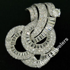 Broches y pines de joyería con diamantes o gemas naturales de platino