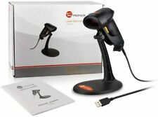 New Barcode Scanner with Stand, Handheld Wired Bar Code Usb Laser Scanner