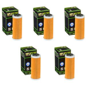 Hiflofiltro HF652 Oil Filter 5 Pack KTM 500 EXC-F, 250 XC-F, 450 XC-W