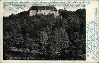 Schloß Wolkenburg an der Mulde alte DDR Postkarte 1954 Blick auf das Schloß Wald