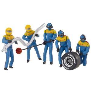 Carrera Mechanics Crew Set of 5 Figures, Blue for 124 / 132 slot car track 21132