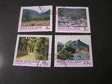 NEW ZEALAND, SCOTT # 577-580(4), COMPLETE SET 1975 STATE FOREST PARKS  USED