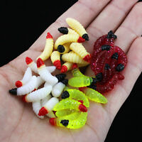NE_ DI- 50Pcs Freshwater Seawater Fishing Tackle Artificial Worm Baits Fish Lure