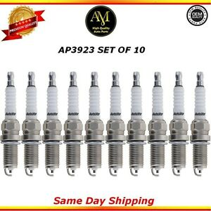 Platinum Spark Plugs AP3923 Set of 10 For 11/15 Audi Chevrolet Kia Volkswagen
