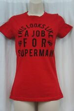 DC Comics Superman T Shirt Sz XS Red Graphic Short Sleeve Casual Tee Shirt Top