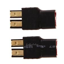 2pcs Wireless Male for Traxxas to T-Plug Deans Style Connector battery Adapter