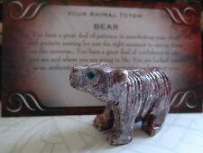 *BEAR* Carved Stone Figurine Totem (1) FREE Bonus LOOK Wiccan Pagan Gift