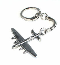 WW2 Lancaster Bomber Plane keyring Key-ring keychain English Pewter Handmade wa