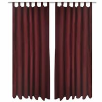 2 Panels Bordeaux Solid Blackout Window Curtains Home Drapes 55Wx96L Micro Satin
