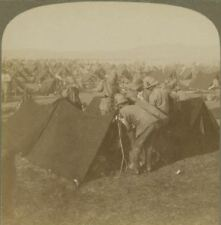 Camp of the 6th Division, outskirts of Bloemfontein S.A Boer War Stereoview