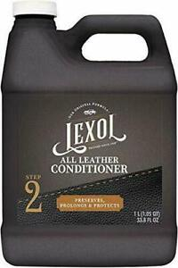 LEXOL LEATHER CONDITIONER ONE LITER  JACKET BOOTS SOFA COUCH SHOES CHAPS SADDLE