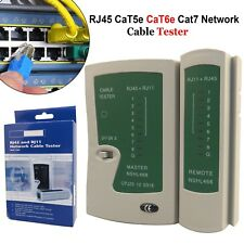 RJ45 RJ11 CAT5e Cat6 Network Cable Tester Ethernet LAN PC Wire Lead Testing Tool