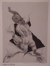 "Jon Reich Art Gallery ""Self Discovery"" print limited edition1000 B&W Male nude."
