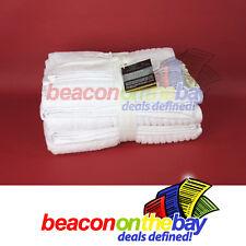 7 Piece White 100% Pure Indian Cotton Large Bath Towel Set Gift Set Indus Sands