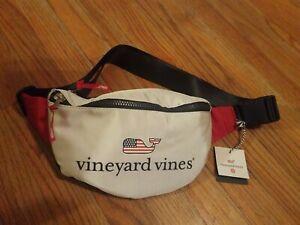 New~ Flag Whale Logo Fanny Pack * Navy Blue/ Red/ White  Vineyard Vines Target