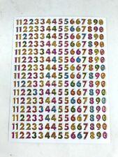240 Assorted Number Sticker Scrapbook Card Seal IQ Kids School Pencil Box Bed
