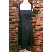 Philosophy di Alberta Ferretti Sleeveless Denim Midi Dress A-line Women's US 8