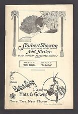 "Walter Hampden ""HAMLET"" Marjorie Rambeau ""THE GOLDFISH"" 1923 New Haven Playbill"