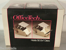 "Vintage OfficeTech 5 1/4"" Floppy Disk Holder Case Holds 50 Disks #21550 NOS"