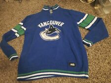 NHL Knit mediCCM Vancouver Canucks Zip Up Hoodie hood Sweatshirt Sweater Canuck