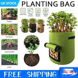 POTATO GROW BAGS TOMATO PLANTING BAG HOME GARDEN VEGETABLE PLANTER CONTAINER UK